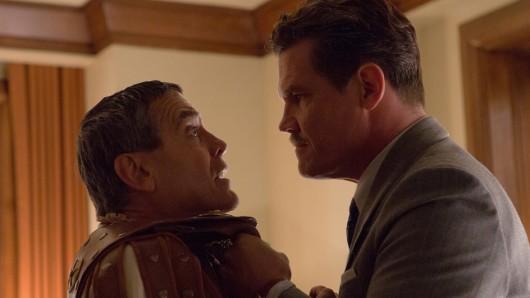 Ohrfeige für den Star: Clooney (l.) mit Josh Brolin