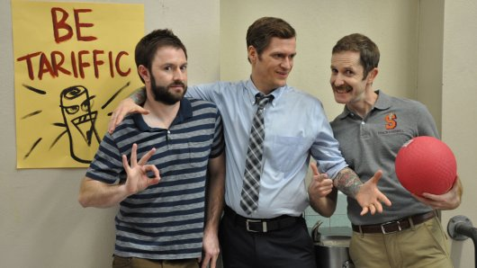 Bad Teachers: Loren (Adam Cayton-Holland, l.), Billy (Benjamin Roy) und Andy (Andrew Orvedahl)