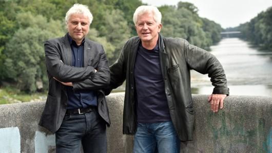 Am Set von Mia san jetz da wo's weh tut: Udo Wachtveitl als Franz Leitmayr (l.) und Miroslav Nemec als Ivo Batic