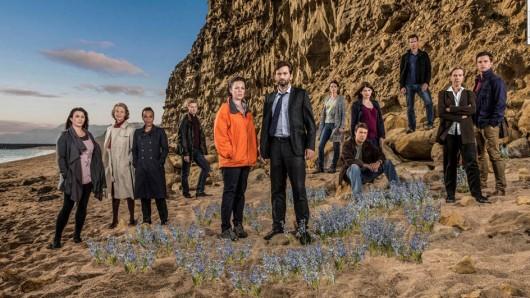 Die Darsteller der 2. Staffel Broadchurch. Ein dritte Staffel ist bereits in Produktion.