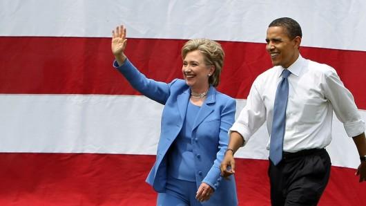 Hillary Clinton und Barack Obama