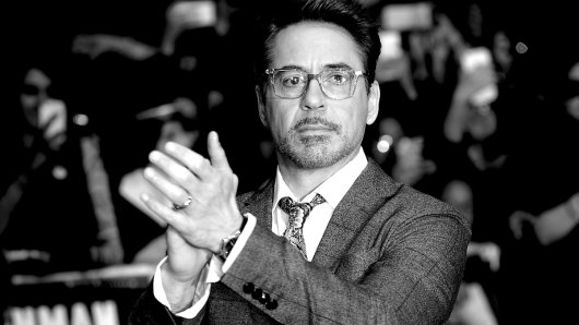 Die Nr. 1 auf der Liste der bestverdienenden Schauspielstars: Robert Downey jr., mit 80 Millionen Dollar Einnahmen in 2015.
