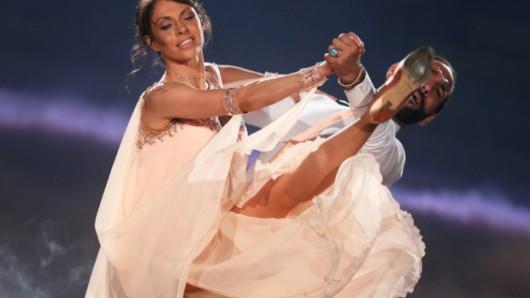 Jana Pallanske und Profitänzer Massimo Sinato im Einsatz bei Let's Dance