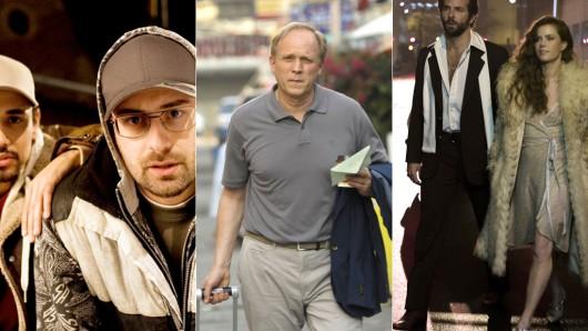 Top-Stars in sehenswerten TV-Premieren: Sido in Blutsbrüdaz, Ulrich Tukur in Herr Lenz reist in den Frühling und Bradley Cooper mit Amy Adams in American Hustle.