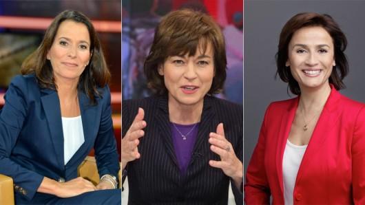 Anne Will, Maybrit Illner und Sandra Maischberger - das weibliche Polit-Talk-Trio im TV.