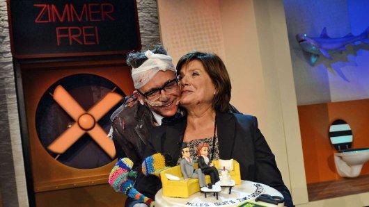 Götz Alsmann und Christine Westermann moderieren am 25. September zum letzten Mal Zimmer frei!.