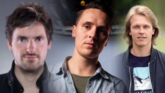 Potentielle Goldjungs (v.l.n.r.): Felix Ahrens, Alex Schaad und Johannes Östergård