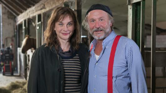 Hauptdarstellerin Christiane Paul mit Autor Klaus-Peter Wolf