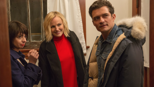 Kate Micucci, Malin Akerman, Orlando Bloom (v.l.)