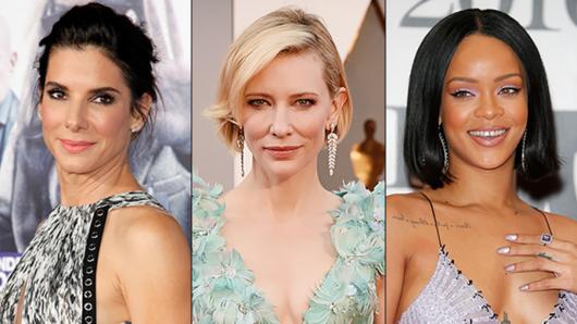 Sandra Bullock, Cate Blanchett & Rihanna (v.l.)