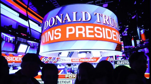 Moment der Entscheidung: Am frühen Morgen des 9. November 2016 wird Donald Trump als Gewinner der Präsidentschaftswahl bekannt gegeben