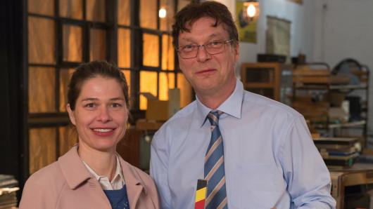 Carla Tamme (Meike Droste) und ihr Chef (Martin Brambach)