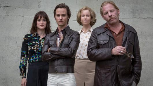 Ab 27. März 2017 im ZDF: das Der gleiche Himmel-Ensemble Friederike Becht (l.), Tom Schilling, Sofia Helin und Ben Becker