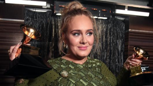 Glückliche Gewinnerin: Sängerin Adele (28)
