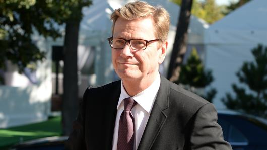 Guido Westerwelle im Jahr 2013 in St. Petersburg