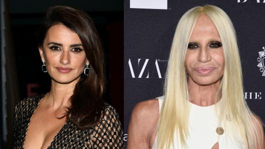 Die Ähnlichkeit ist nicht gerade verblüffend: Penelope Cruz (l.), Donatella Versace