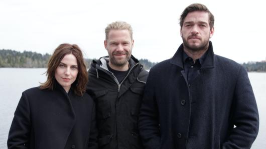 Regisseur Philipp Leinemann (M.) mit den Darstellern Antje Traue und Ronald Zehrfeld