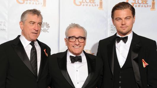 De Niro, Scorsese und DiCaprio (v.l.)