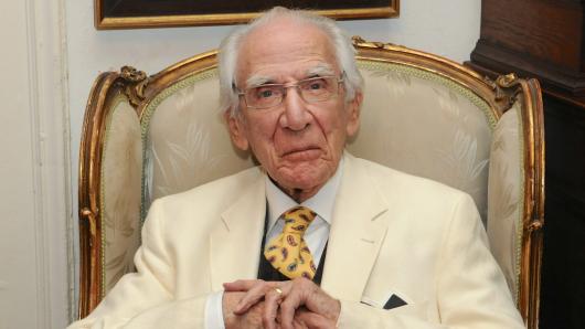 Lukas Ammann an seinem 100. Geburtstag im Juli 2012
