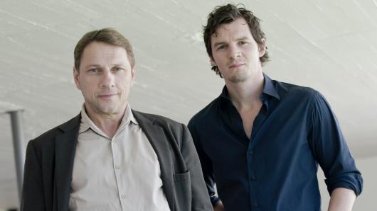 Kriminalhauptkommissar Thorsten Lannert (Richy Müller, l.) und sein Kollege Sebastian Bootz (Felix Klare)