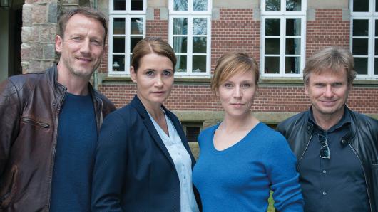 Wotan Wilke Möhring, Anja Kling, Franziska Weisz und Regisseur Niki Stein (v.l.)