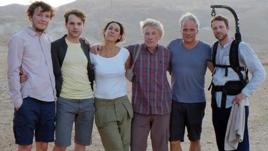 Leonard Carow, Leonard Scheicher, Regisseurin Emily Atef, Jörg Schüttauf, Produzent Thomas Kufus und Kameramann Michael Kotschi (v.l.)