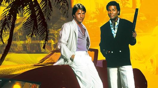 Das Miami Vice-Original: Von 1984 bis 1990 waren Don Johnson (l.) und Philip Michael Thomas im TV-Einsatz als Drogenfahnder-Dandys Sonny Crockett und Ricardo Tubbs