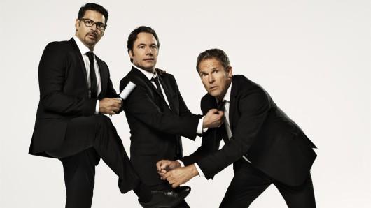 Aufstellung zum Comeback: Rick Kavanian (l.), Michael Bully Herbig und Christian Tramitz kehren mit Bullyparade - Der Film ins Kino zurück
