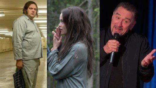 Der Kino-Dreikampf der GOKA-Preisträger: Charly Hübner in Magical Mystery, Emilia Schüle in Jugend ohne Gott und Robert De Niro in The Comedian