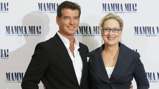 Pierce Brosnan und Meryl Streep bei der Berliner Premiere von Mamma Mia!