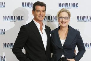 """Pierce Brosnan und Meryl Streep bei der Berliner Premiere von """"Mamma Mia!"""""""