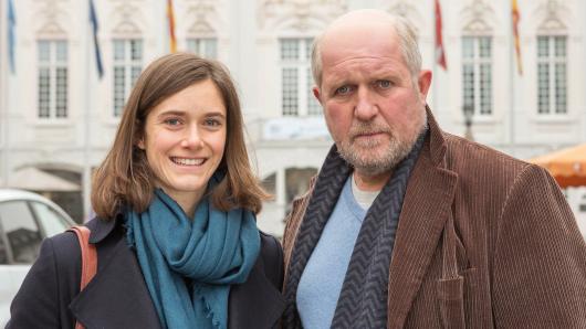 Miriam Stein und ihr Film-Papa Harald Krassnitzer