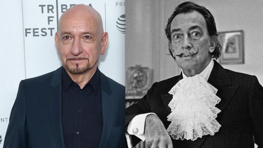 Ähnlichkeit durchaus vorhanden: Ben Kingsley (l.) wird in Dali Land in die Haut der spanischen Künstlerlegende Salvador Dalí schlüpfen.