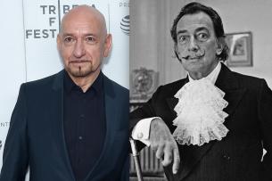 """Ähnlichkeit durchaus vorhanden: Ben Kingsley (l.) wird in """"Dali Land"""" in die Haut der spanischen Künstlerlegende Salvador Dalí schlüpfen."""