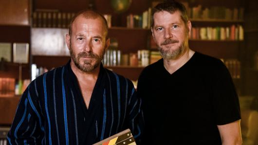 Heino Ferch (l.) mit Regisseur Andreas Prochaska