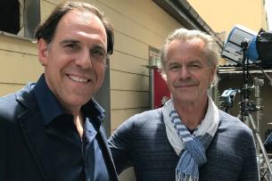 "Am Set der Bestseller-Verfilmung ""Kühn hat zu tun"": Hauptdarsteller Thomas Loibl (l.) und Regisseur Ralf Huettner"