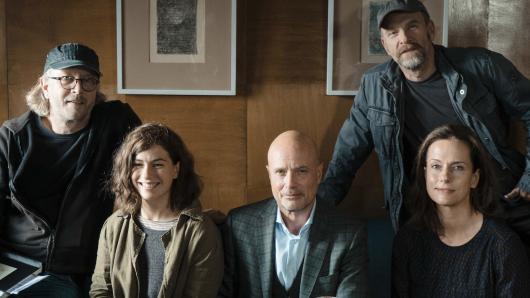 Regisseur Kai Wessel mit seinen Darstellern Henriette Confurius, Christian Berkel, Götz Schubert und Claudia Michelsen (v.l.)