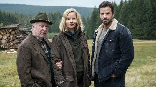 Andreas Schmidt-Schaller, Teresa Weißbach und Stephan Luca (v.l.) haben die Hauptrollen im Erzgebirgekrimi übernommen
