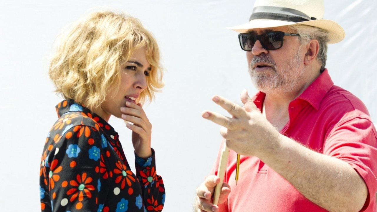 """Zurück in seinem Element: Regisseur Pedro Almodóvar mit Jung-""""Julieta"""" Adriana Ugarte"""