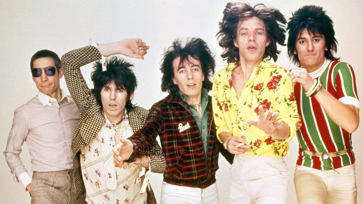 Die Rolling Stones 1970: Charlie Watts, Keith Richards, Bill Wyman, Mick Jagger und Ron Wood (v.l.)