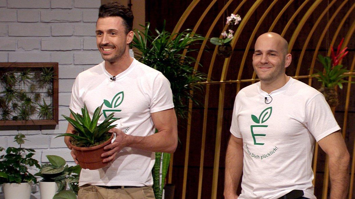 Philip Ehlers (l.) und Jan Nieling brauchen Kapital für ihren Pflanzen-Onlineshop