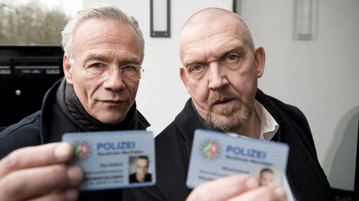 Hier ist die Polizei: Kommissar Max Ballauf (Klaus J. Behrendt, l.) und Freddy Schenk (Dietmar Bär, r.)