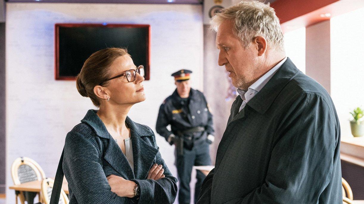 Daniela Vopelka (Kristina Sprenger) ist beim Dezernat für organisierte Kriminalität tätig und unterstützt Moritz Eisner (Harald Krassnitzer).