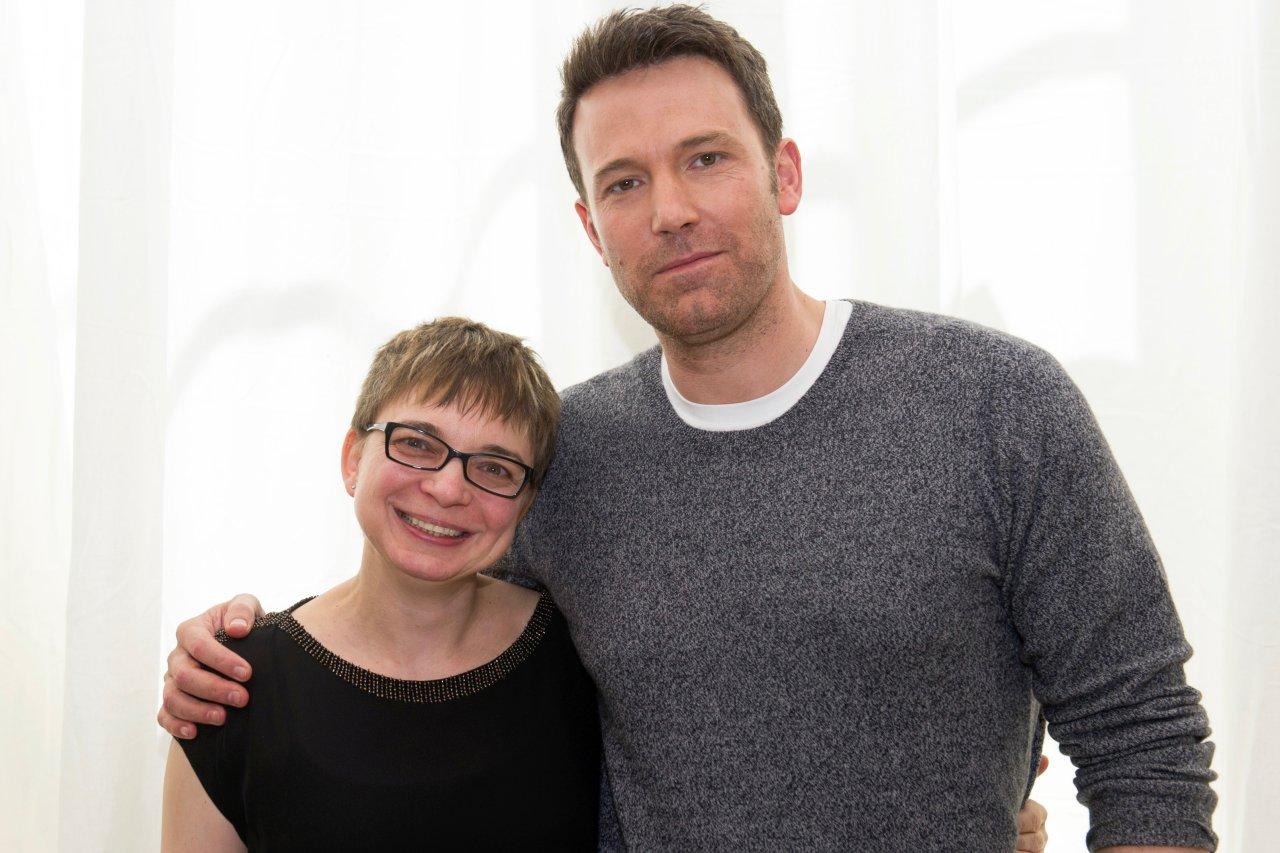 Ben Affleck und GOLDENE KAMERA-Korrespondentin Anke Hofmann