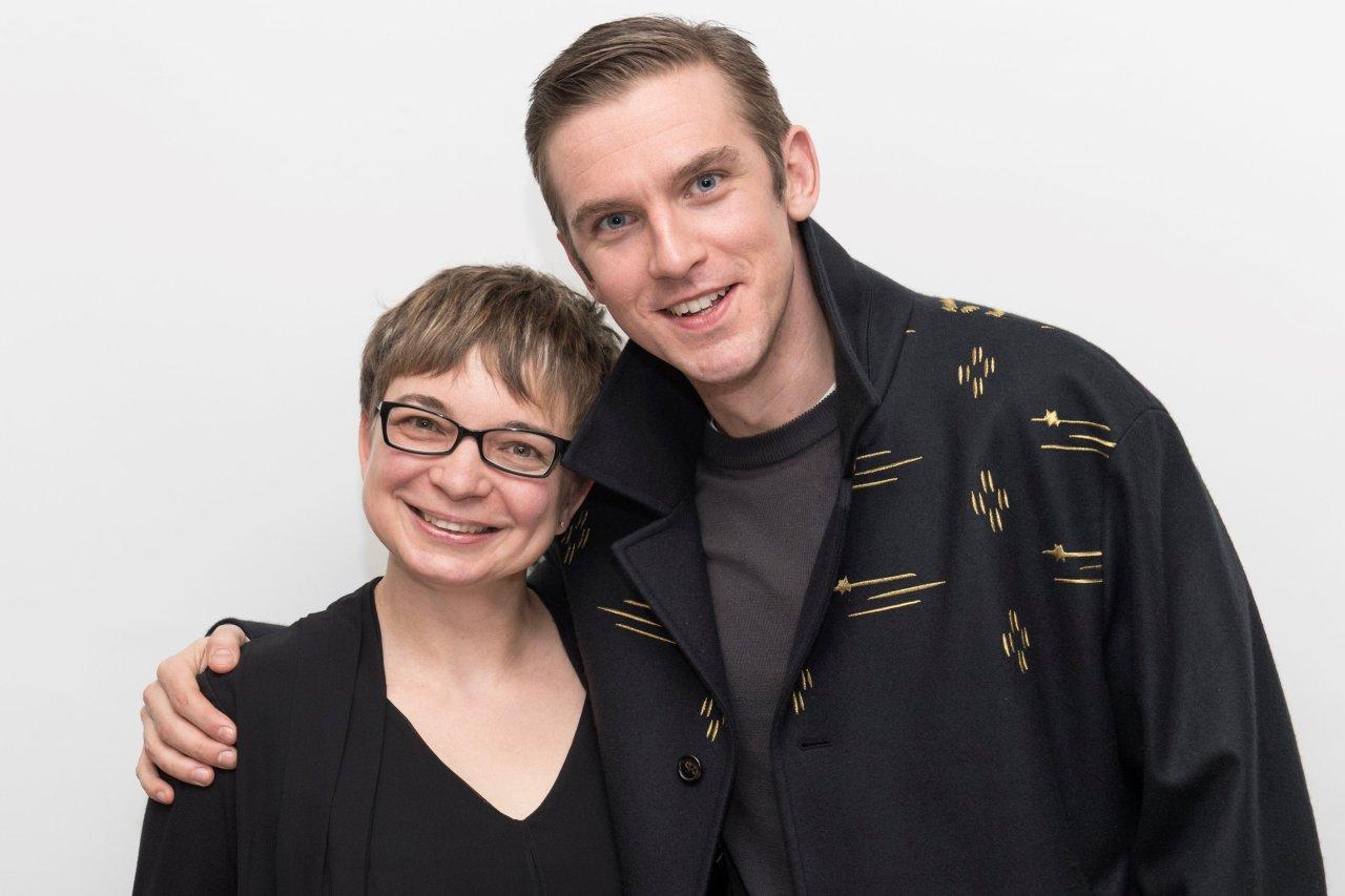 Dan Stevens und GOLDENE KAMERA-Korrespondentin Anke Hofmann