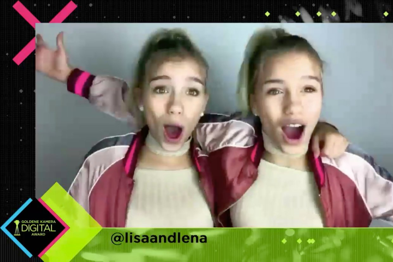 Goldiger Opener: Die Lip-Sync-Zwillinge Lisa and Lena begrüßen mit anderen YouTube-Stars die Zuschauer des GOLDENE KAMERA Digital Awards