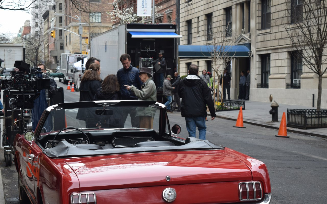 "Woody Allen am Set seiner Miniserie ""Crisis in Six Scenes"""