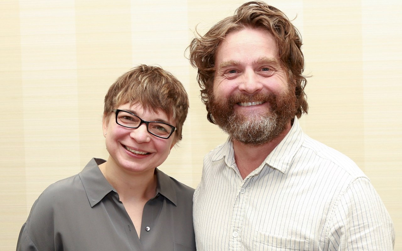 Zach Galifianakis und GOLDENE KAMERA-Korrespondentin Anke Hofmann