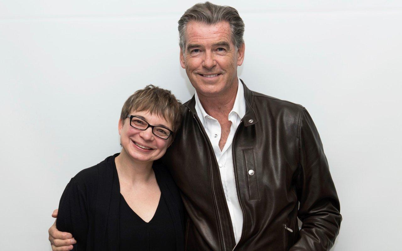 Pierce Brosnan und GOLDENE KAMERA-Korrespondentin Anke Hofmann