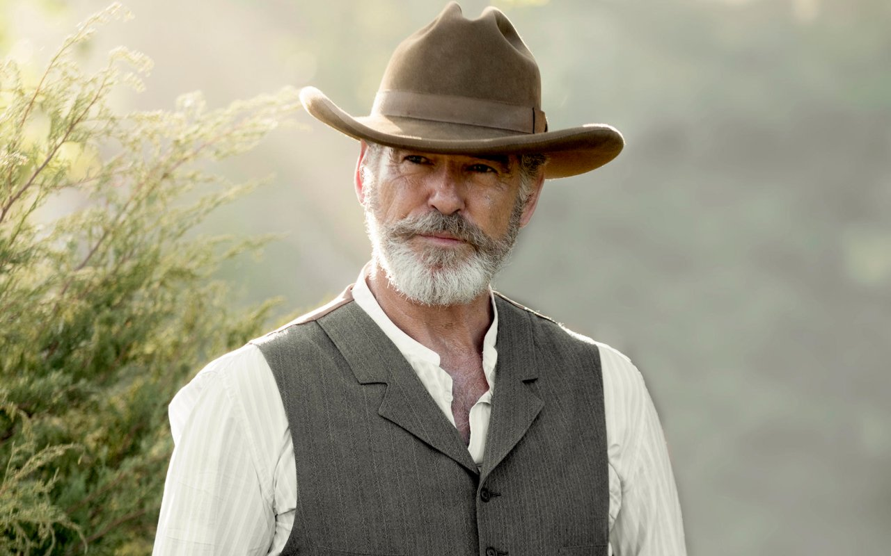 "Pierce Brosnan als texanischer Wild-West-Patriarch Eli McCullough in seiner neuen Serie ""The Son"""